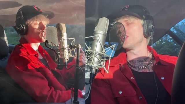 Red jacket  worn by Machine Gun Kelly in his Smoke and Drive music video