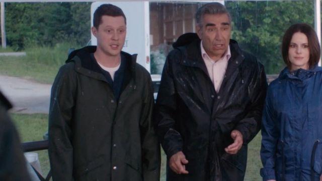 Green Rain Coat worn by Patrick Brewer (Noah Reid) in Schitt's Creek (S06E14)