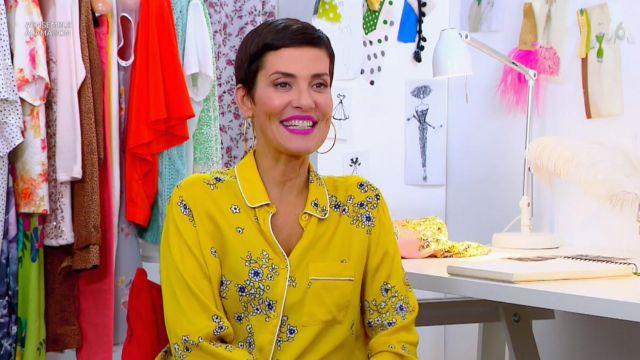 La chemise jaune imprimée de Cristina Córdula dans Les reines du shopping