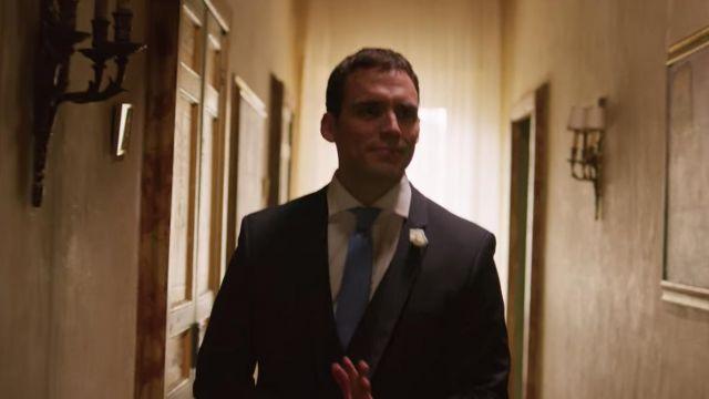 Blue tie worn by Jack (Sam Claflin) as seen in Love Wedding Repeat