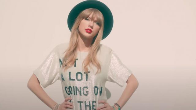 Not A Lot Going On At The Moment T-Shirt worn by Taylor Swift in her 22 music video