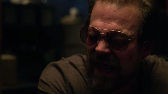 Aviator sunglasses worn by Gaspar (David Harbour) as seen in Extraction