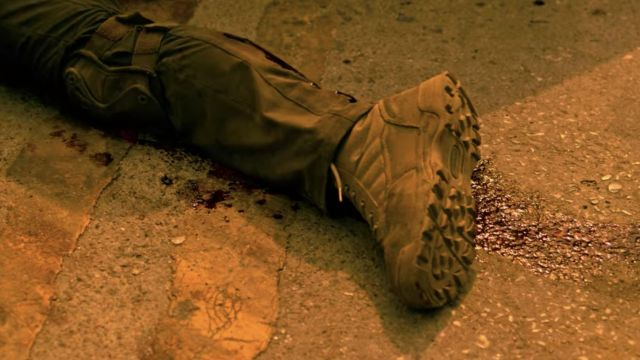 Military boots worn by Tyler Rake (Chris Hemsworth) as seen in Extraction