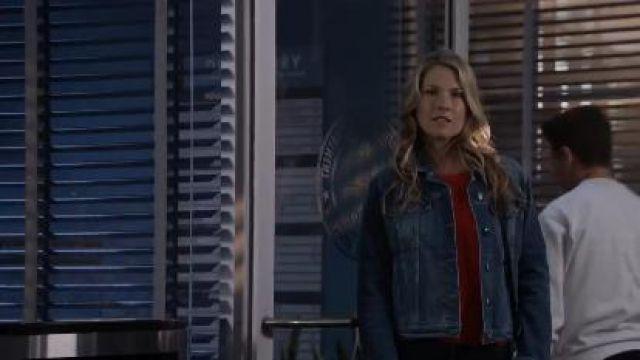 Denim Jacket worn by Dr. Grace Sawyer (Ali Larter) in The Rookie Season 2 Episode 18