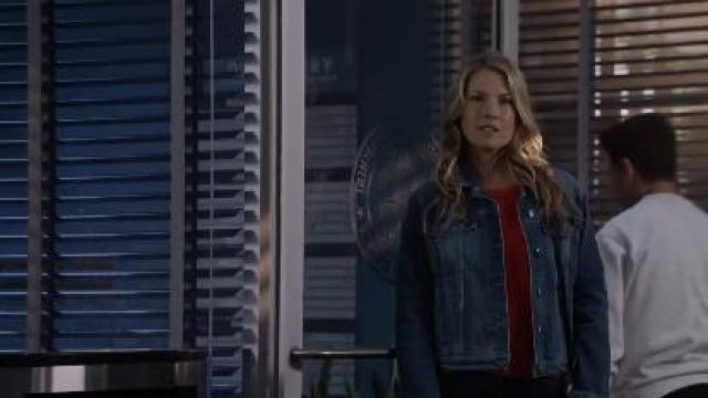Red Cashmere Sweater worn by Dr. Grace Sawyer (Ali Larter) in The Rookie Season 2 Episode 18
