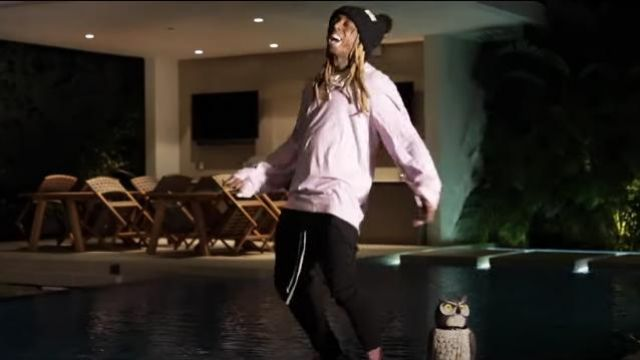 Comme des garçons Worsted Over­sized Jumper worn by Lil Wayne in his Piano Trap & Not Me (Official Music Video)