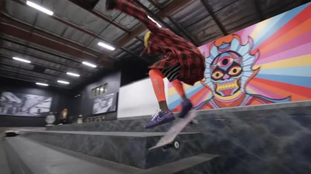Nike SB Dunk Low Con­cepts Pur­ple Lob­ster sneakers worn by Lil Wayne in his Piano Trap & Not Me (Official Music Video)