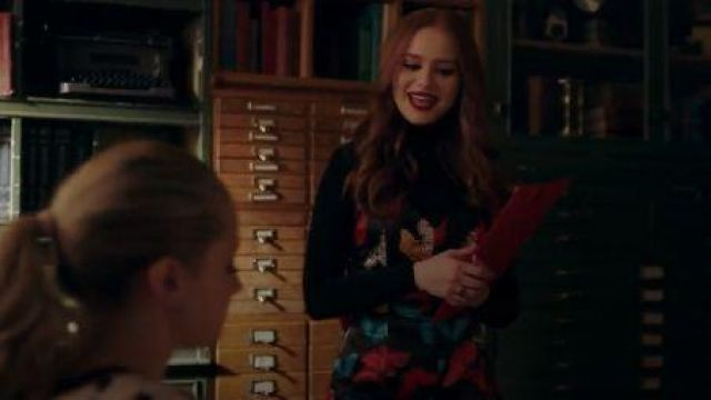 Butterfly Print Mini Dress worn by Cheryl Blossom (Madelaine Petsch) in Riverdale Season 4 Episode  18