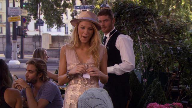 La rode Georges Chakra 'Swarovski Cage Corset' de Serena van der Woodsen (Blake Lively) dans la série Gossip Girl (Saison 4 Épisode 1)