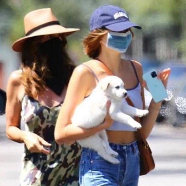 Celine Teen Triomphe Bag worn by Kaia Jordan Gerber Santa Monica May 3, 2020