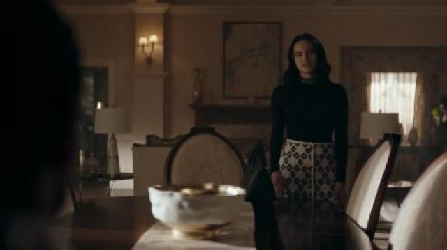 White Floral Skirt worn by Veronica Lodge (Camila Mendes) in Riverdale Season 4 Episode 18