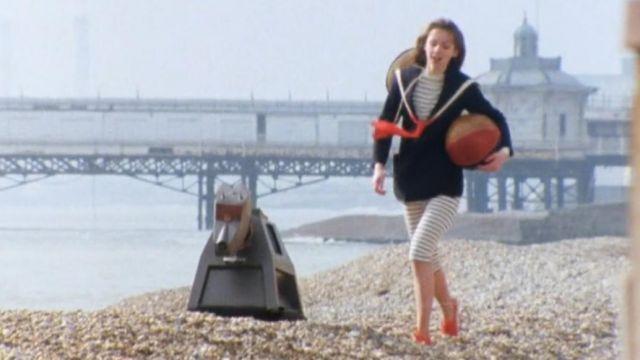 Leggings à rayures porté par Romana (Lalla Ward) dans Doctor Who (S18E01)