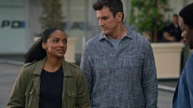 Grey Textured Shirt worn by John Nolan (Nathan Fillion) in The Rookie Season 2 Episode 20