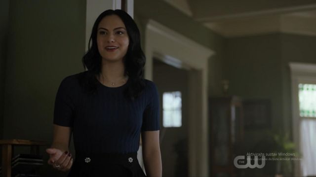 Blue t-shirt worn by Veronica Lodge (Camila Mendes) in Riverdale (S03E21)