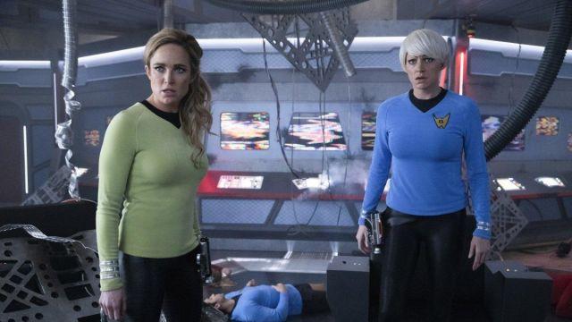 Blue Sweater  worn by Ava Sharpe (Jes Macallan) in DC's Legends of Tomorrow (Season 5 Episode 14)