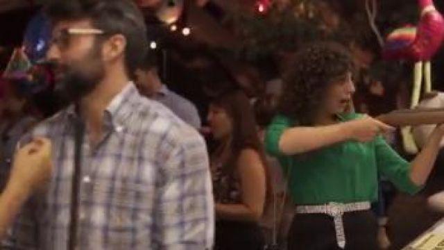 Topshop Crystal Belt worn by Lola (Silma López) in Valeria Season 1 Episode 6