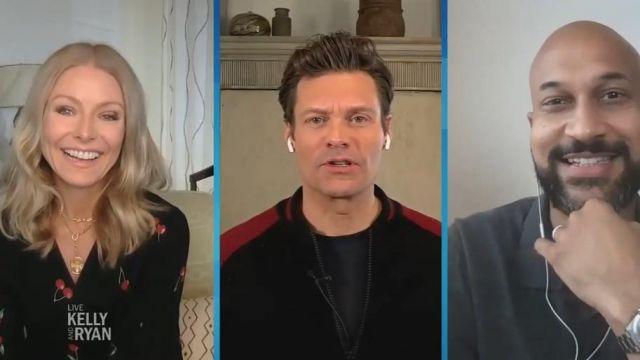 Rails Aimee de la Cerise Robe imprimée porté par Kelly Ripa sur le LIVE avec Kelly et Ryan 26 Mai 2020