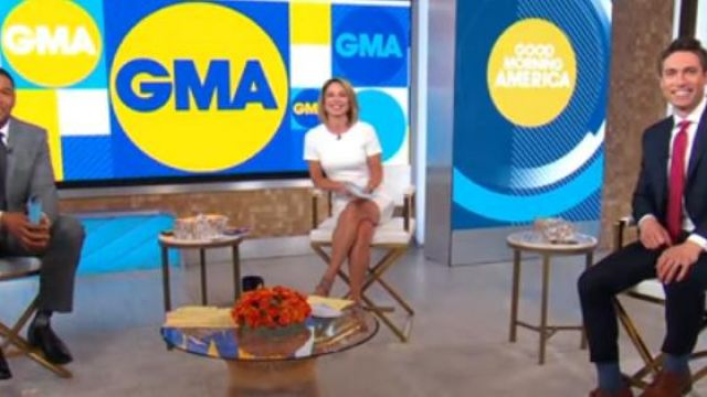 Likely Manhattan Dress worn by Amy Robach on Good Morning America May 27, 2020