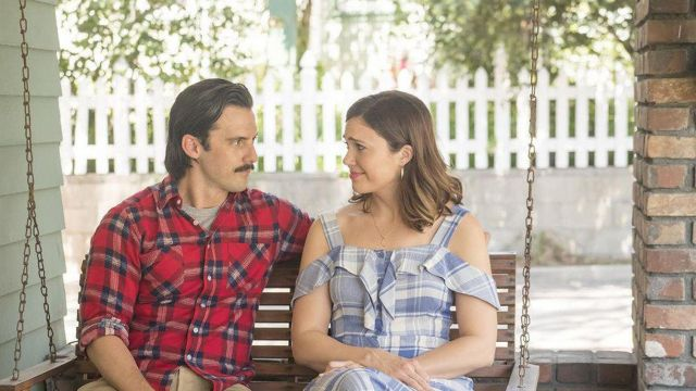 The red shirt plaid worn by Jack Pearson (Milo Ventimiglia) in This Is Us (S02E05)