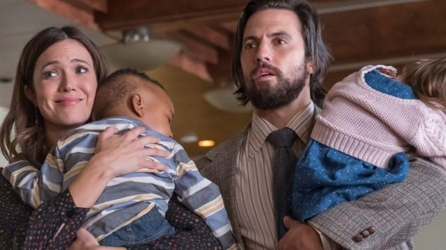 The white shirt with stripes worn by Jack Pearson (Milo Ventimiglia) in This Is Us (S02E07)