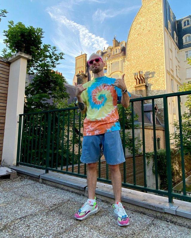 Le t-shirt Palm Angels porté par Squeezie sur son compte Instagram @xsqueezie