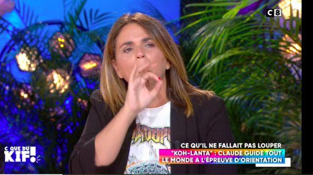 Le t-shirt écru col rond sérigraphié de Valerie Benaim dans C que du Kif le 02.06.2020
