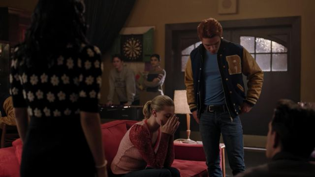 Letterman Jacket worn by Archie Andrews (KJ Apa) in Riverdale (S04E15)