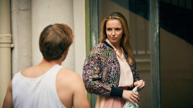 Floral Bomber Jacket worn by Villanelle (Jodie Comer) as seen in Killing Eve (S01E02)