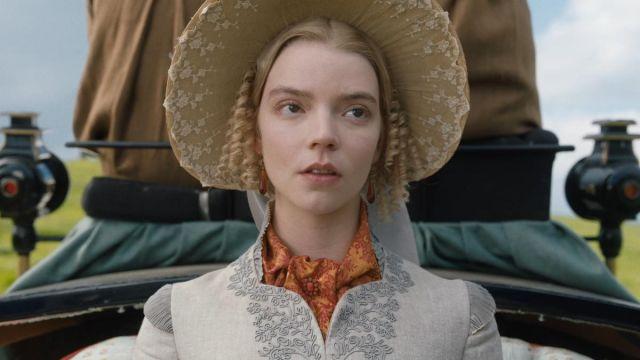 Amber Earrings worn by Emma Woodhouse (Anya Taylor-Joy) in Emma.