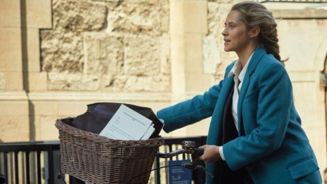 Blue Coat worn by Diana Bishop (Teresa Palmer) in A Discovery of Witches (S01E01)