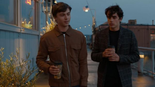Brown Shirt Jacket worn by Alex Standall (Miles Heizer) in 13 Reasons Why (S04E02)
