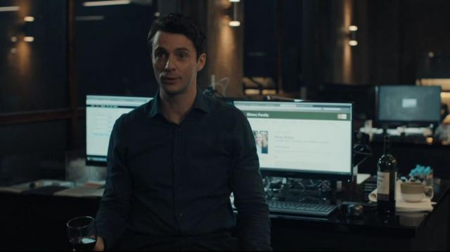 Black Shirt worn by Matthew Clairmont (Matthew Goode) in A Discovery of Witches (Season 1)