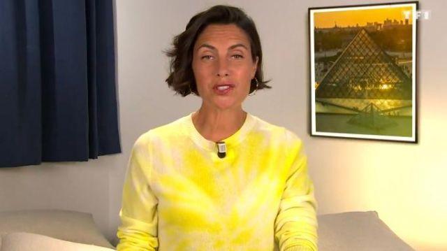 Le pull en laine et cachemire mélangés tie & dye de Alessandra Sublet dans C'est Canteloup le 17.06.2020