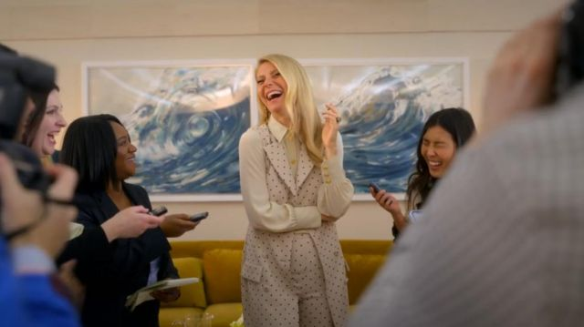 Silk Blouse worn by Georgina Hobart (Gwyneth Paltrow) in The Politician (S02E01)