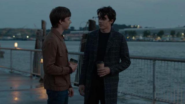 Plaid Overcoat worn by Winston (Deaken Bluman) in 13 Reasons Why (S04E02)
