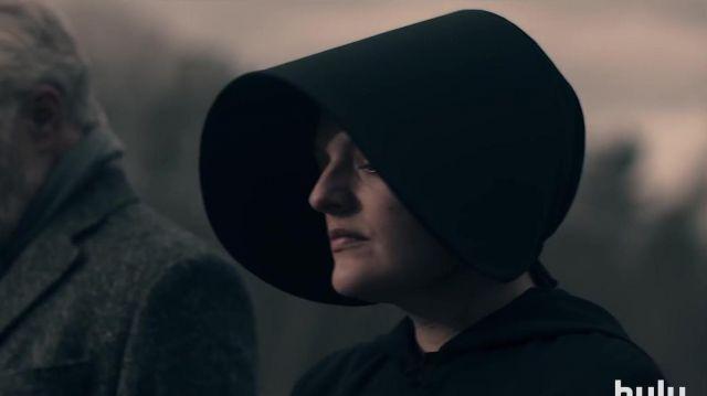 Black hat worn by June Osborne (Elisabeth Moss) in The Handmaid's Tale Season 4 Teaser