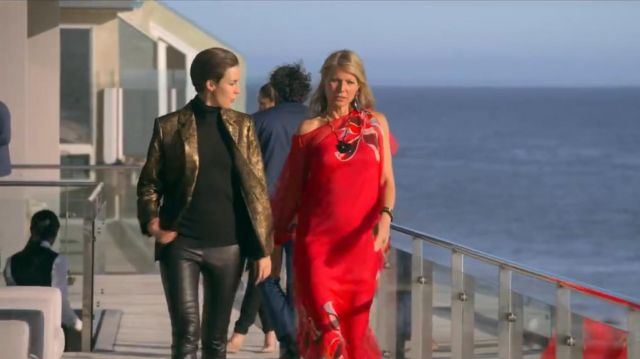 Red Print Kaftan worn by Georgina Hobart (Gwyneth Paltrow) in The Politician (S02E01)