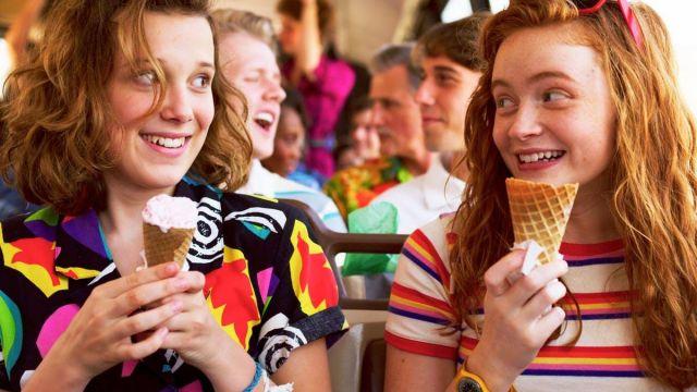 Honey Punch Rainbow Stripe Shirt worn by Max Mayfield (Sadie Sink) in Stranger Things (Season 3 Episode 1)