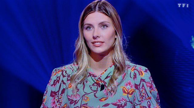 La blouse à fleurs Zara de Camille Cerf dans Le grand concours des animateurs