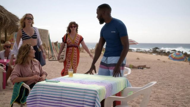 Olaian By Decathlon Blue Top Worn By Sean Lamorne Morris As Seen In Desperados Spotern