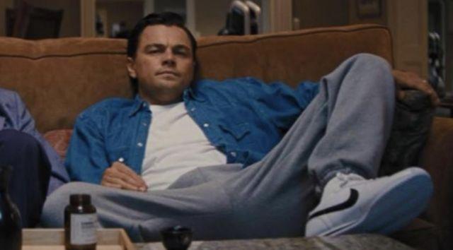 Sneakers Nike Cortez white and black worn by Jordan Belfort (Leonardo DiCaprio) in The Wolf of Wall Street