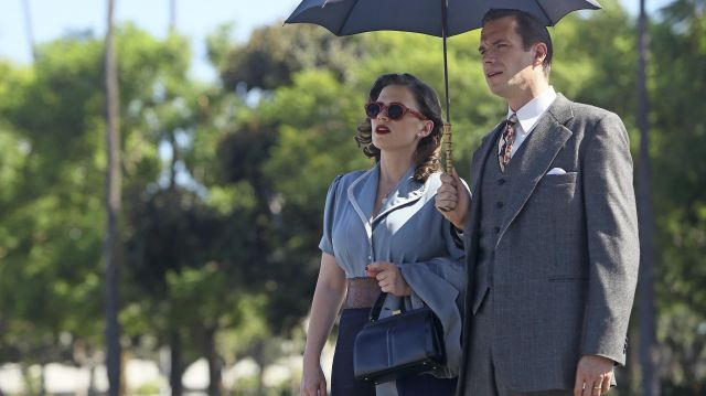 Blue Blouse of Peggy Carter  in Marvel's Agent Carter (Season 2 Episode 1)