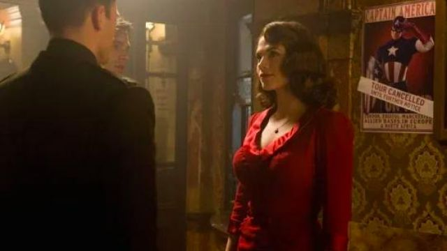 Red Dress worn by Peggy Carter (Hayley Atwell) in Captain America: The First Avenger