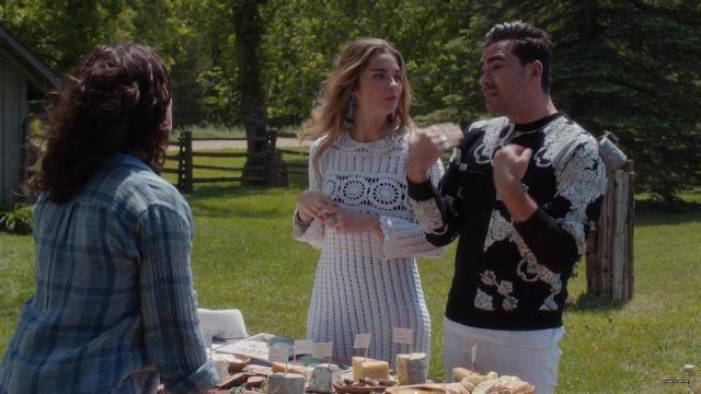 Crochet dress worn by Alexis Rose (Annie Murphy) in Schitt's Creek (S04E05)