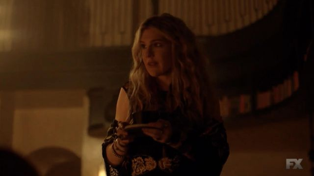 Gold Embroidered Black Belt worn by Misty Day (Lily Rabe) in American Horror Story (S08E05)