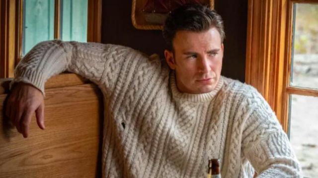 Cable Sweater worn by Ransom Drysdale (Chris Evans) in Knives Out