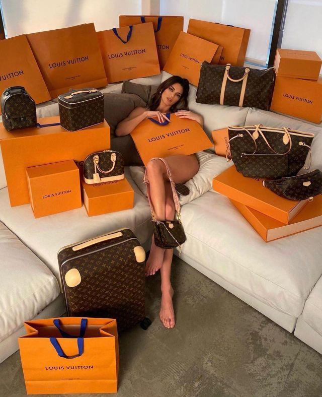 Louis Vuitton Monogram Sacs à main de Kendall Jenner sur Instagram account @kendalljenner