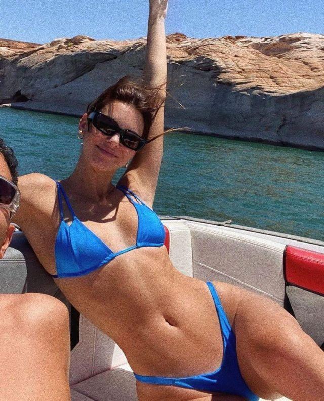 Sommer Nager Daria Sirius Haut de Bikini porté par Kendall Jenner sur son Instagram account @sommer.nager