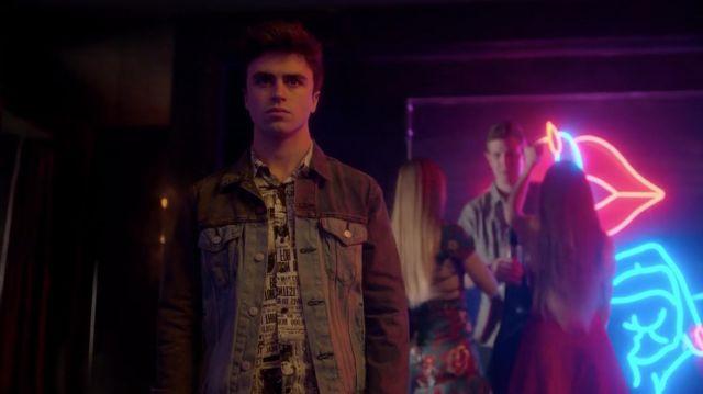 Two Tone Denim jacket worn by Samuel Garcia (Itzan Escamilla) in Elite (S02E01)