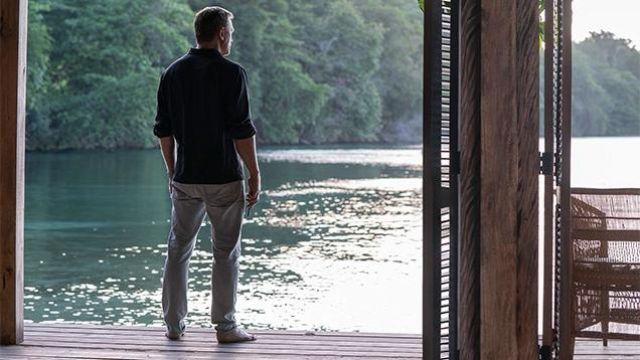 Tom Ford Grey Denim Jeans worn by James Bond (Daniel Craig) in No Time to Die